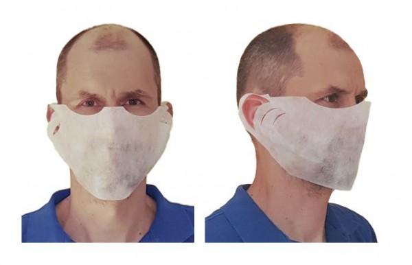 Behelfsschutzmaske/Mundschutz 1lg. PP-Vlies weiß a 100 St.